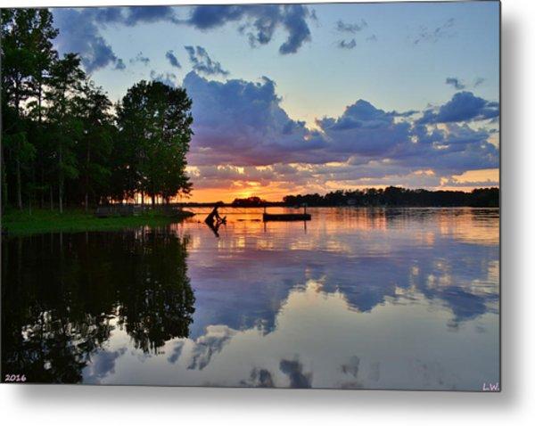 Lake Murray Sc Reflections Metal Print