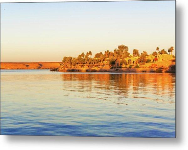 Lake Nasser In Abu Simbel Metal Print