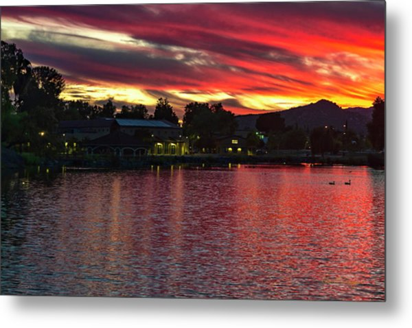 Metal Print featuring the photograph Lake Of Fire by Dan McGeorge