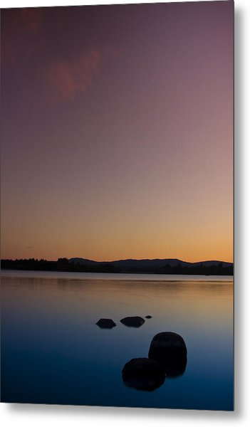 Lake Of Menteith By Sunset Metal Print
