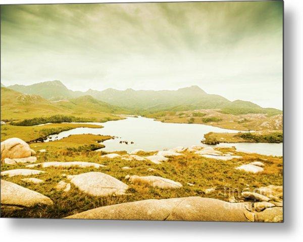 Lake On A Mountain Metal Print