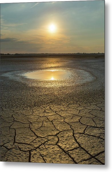 Lake On Fire Metal Print