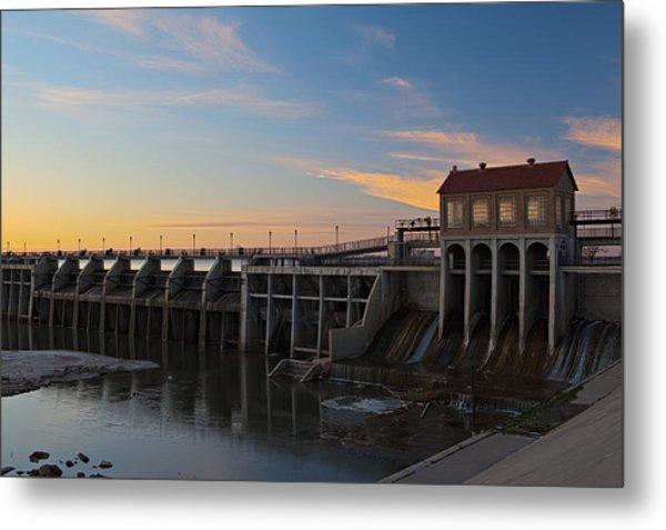Lake Overholser Dam Metal Print