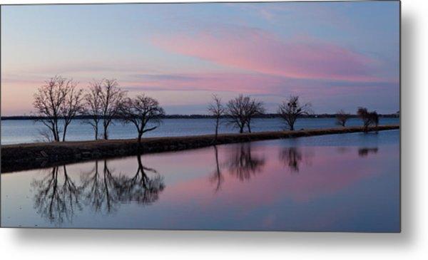Lake Overholser Sunset Metal Print