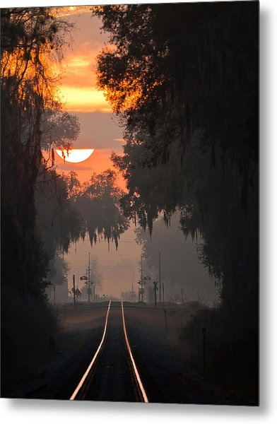Lake Park Sunrise Metal Print