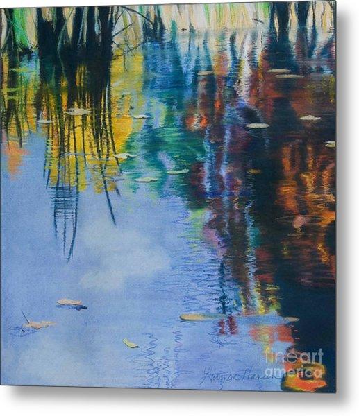 Lake Pearl Reflections Metal Print by Lucinda  Hansen
