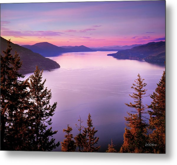 Lake Pend Oreille 2 Metal Print by Leland D Howard
