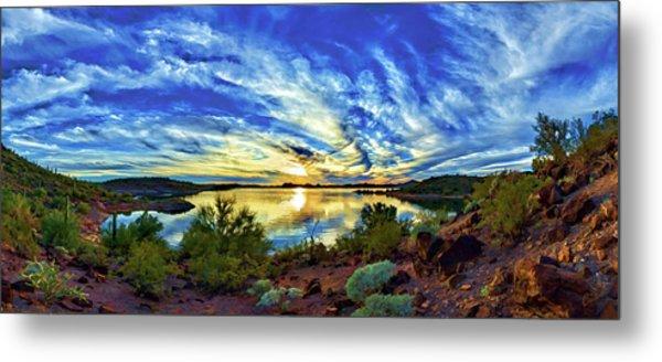 Lake Pleasant Sunset 3 Metal Print