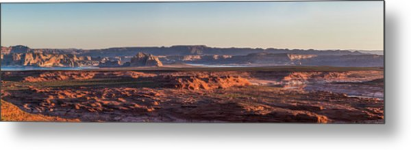 Lake Powell Sunrise Panorma Metal Print