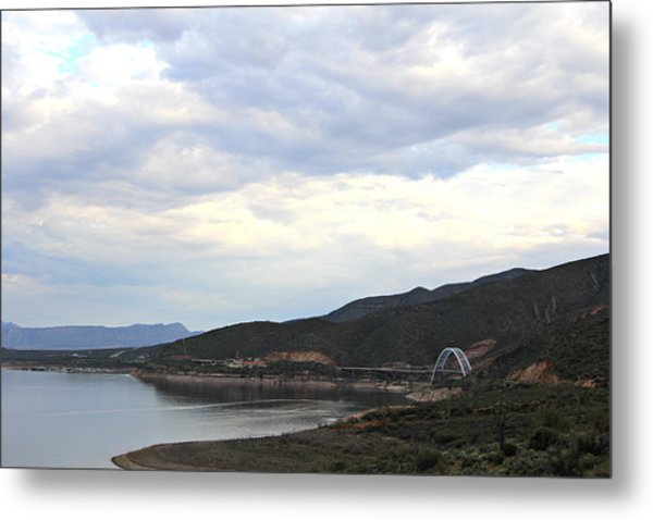 Lake Roosevelt Bridge 1 Metal Print