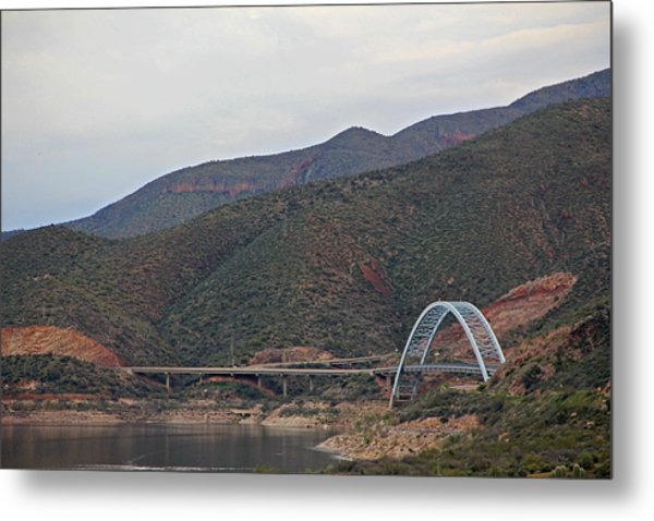 Lake Roosevelt Bridge 2 Metal Print
