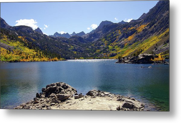Lake Sabrina In Fall Colors Metal Print