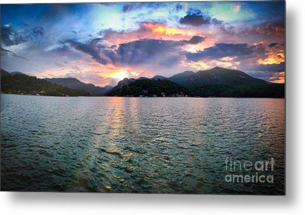 Lake Solstice Metal Print