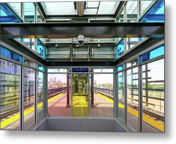 Lake Street Light Rail Station  Metal Print