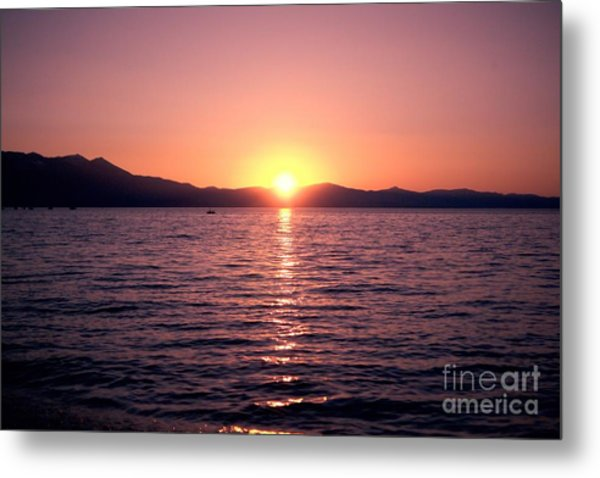 Lake Sunset 8pm Metal Print