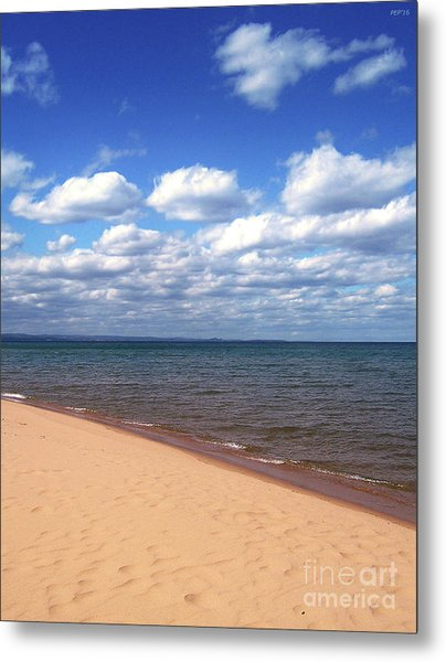 Lake Superior In Summer Metal Print