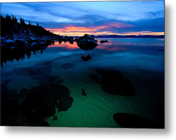 Lake Tahoe Clarity At Sundown Metal Print
