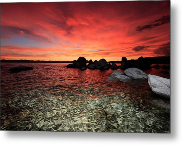 Lake Tahoe Liquid Dreams Metal Print