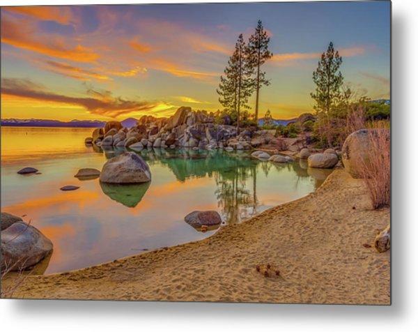 Lake Tahoe Majestic Sunset Metal Print