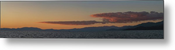 Lake Tahoe South Shore Panorama - 1 Metal Print