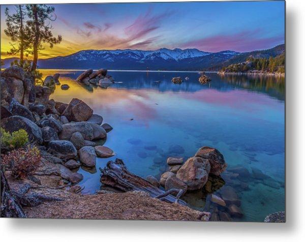 Lake Tahoe Spring Kaleidoscope  Metal Print