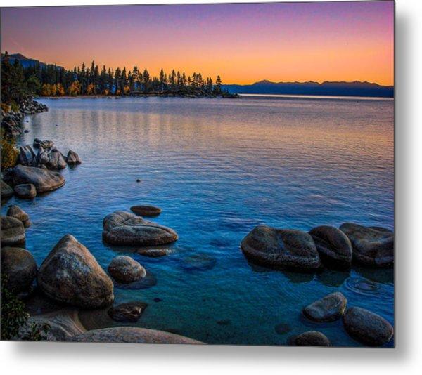 Lake Tahoe State Park Fall Sunset Metal Print
