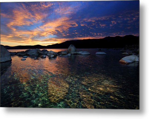 Lake Tahoe Sundown Metal Print