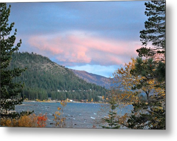 Lake Tahoe Sunset Metal Print by Linda Sramek