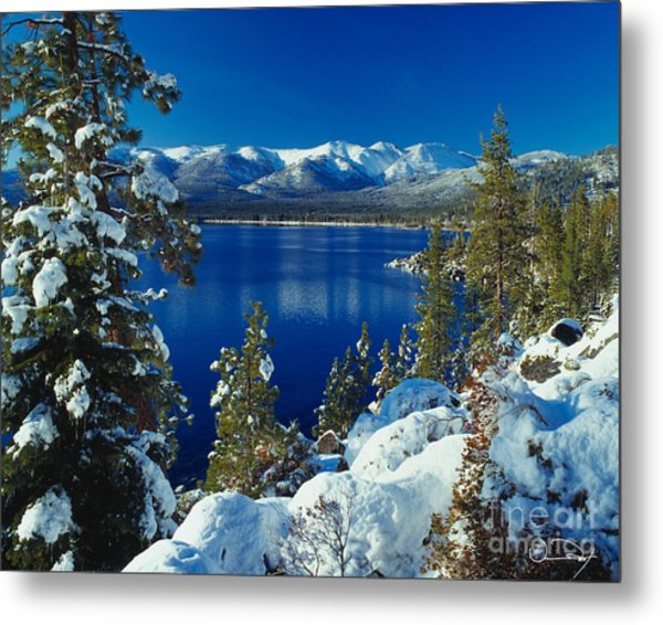 Lake Tahoe Winter Metal Print