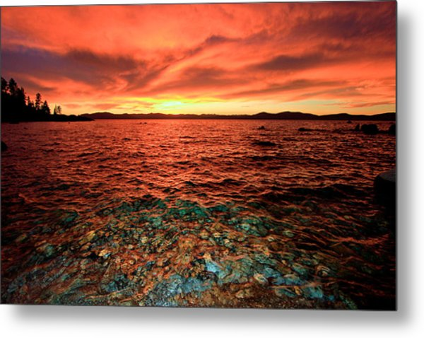 Lake Tahoe...blood Moon Sunset Metal Print