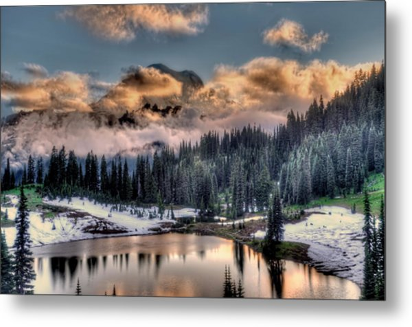 Lake Tipsoo, Mt Rainier Metal Print