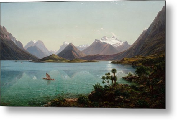 Lake Wakatipu With Mount Earnslaw. Middle Island New Zealand Metal Print
