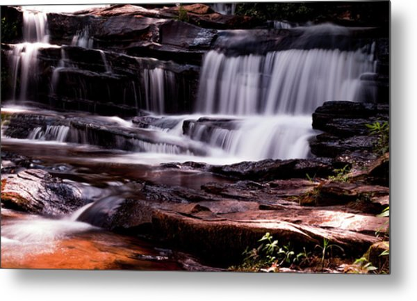 Lake Waterfall Metal Print
