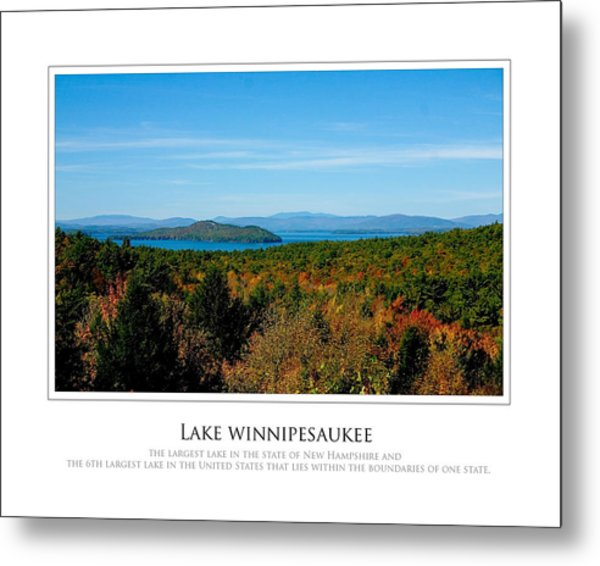 Lake Winnipesaukee - Fall Metal Print by Jim McDonald Photography