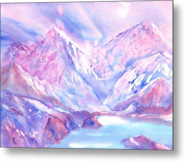 Swiss Mountains - Lake With A View Metal Print