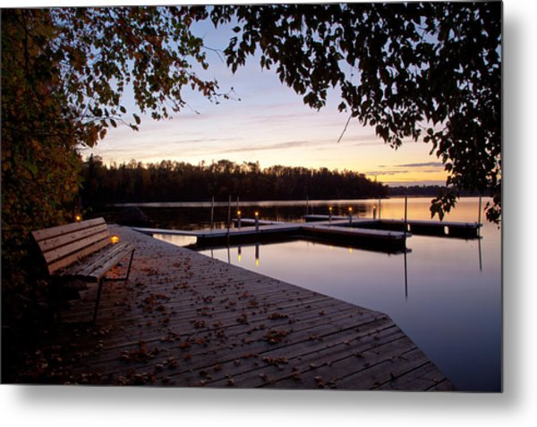Lakeside In The North Woods Metal Print