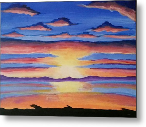 Lakeview Sunset Metal Print