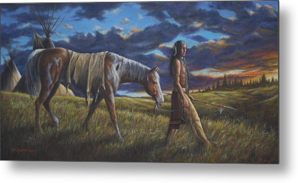 Lakota Sunrise Metal Print