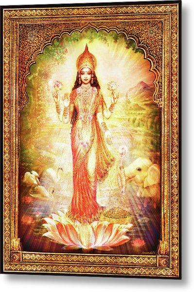 Lakshmi Goddess Of Fortune With Lighter Frame Metal Print