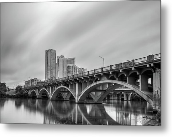 Lamar Bridge In Austin, Texas Metal Print