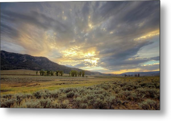 Lamar Valley Sunset Metal Print