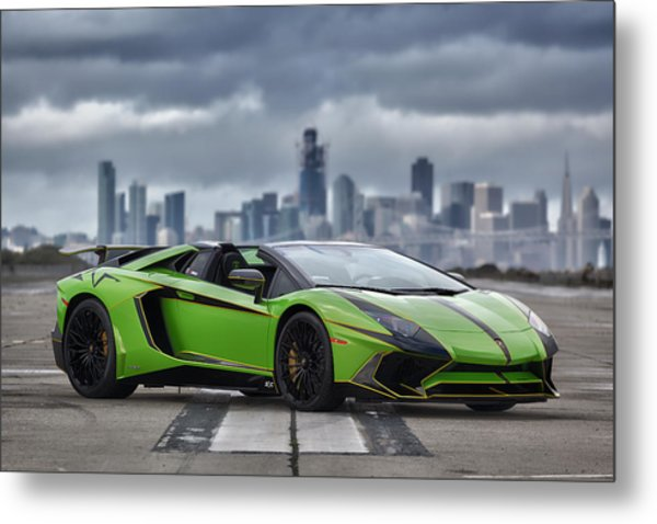 Metal Print featuring the photograph #lamborghini #aventadorsv #superveloce #roadster #print by ItzKirb Photography