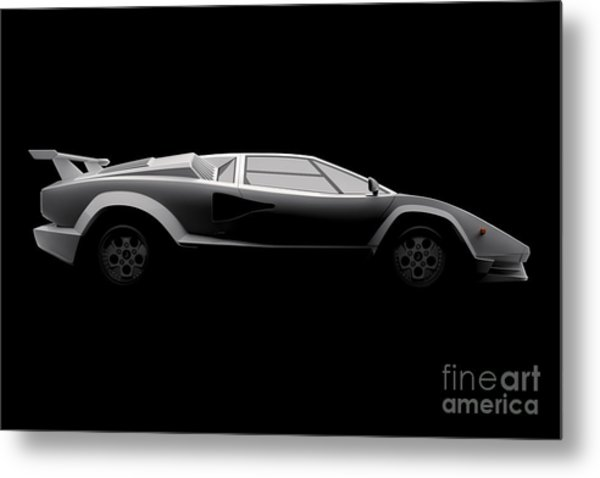 Lamborghini Countach 5000 Qv 25th Anniversary - Side View Metal Print