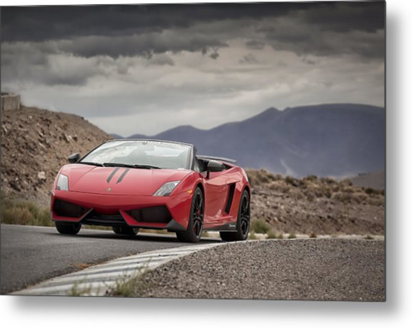 Metal Print featuring the photograph Lamborghini Gallardo Lp570-4 Spyder Performante by ItzKirb Photography