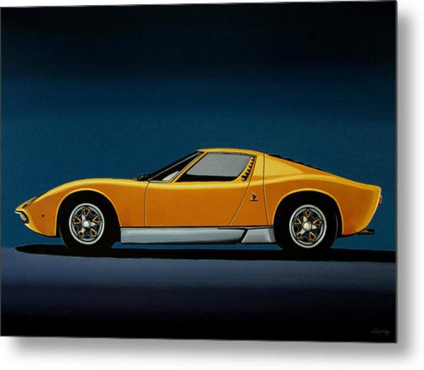 Lamborghini Miura 1966 Painting Metal Print