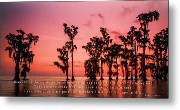 Lamentations 3 Metal Print