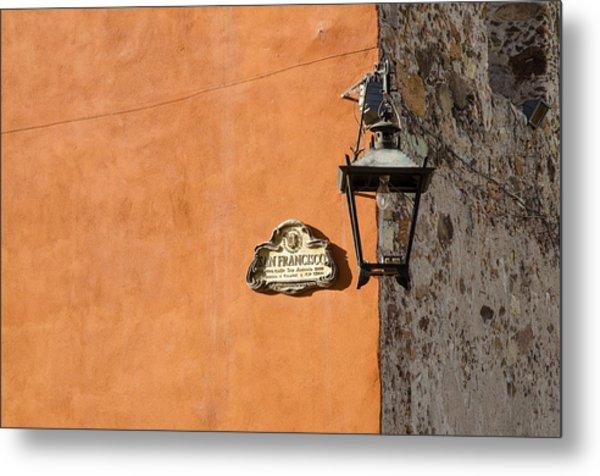 Lamp At The Corner. Metal Print