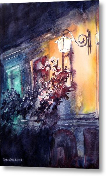 Lamplight Metal Print by Gyorgy Ozsvath