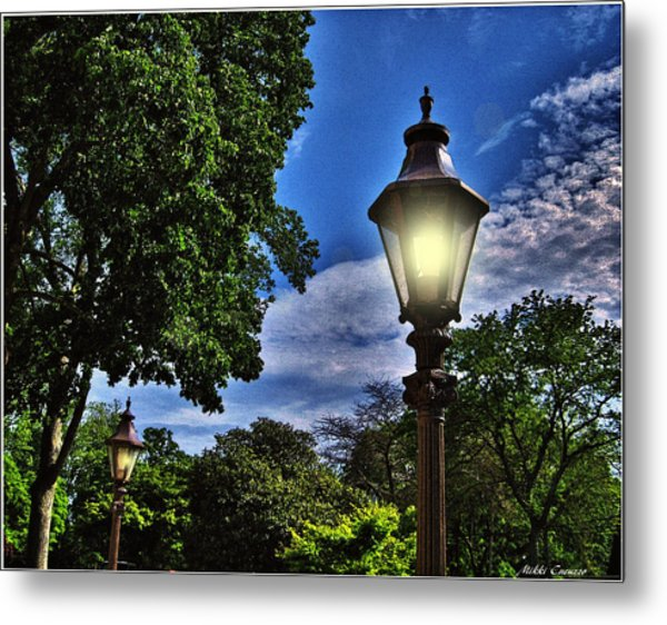 Lamposts Metal Print