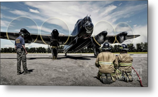Lancaster Engine Test Metal Print